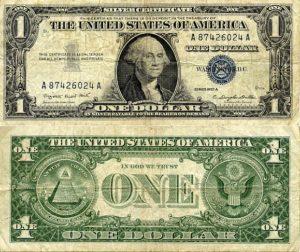 Amerikanischer Ein-Dollarschein