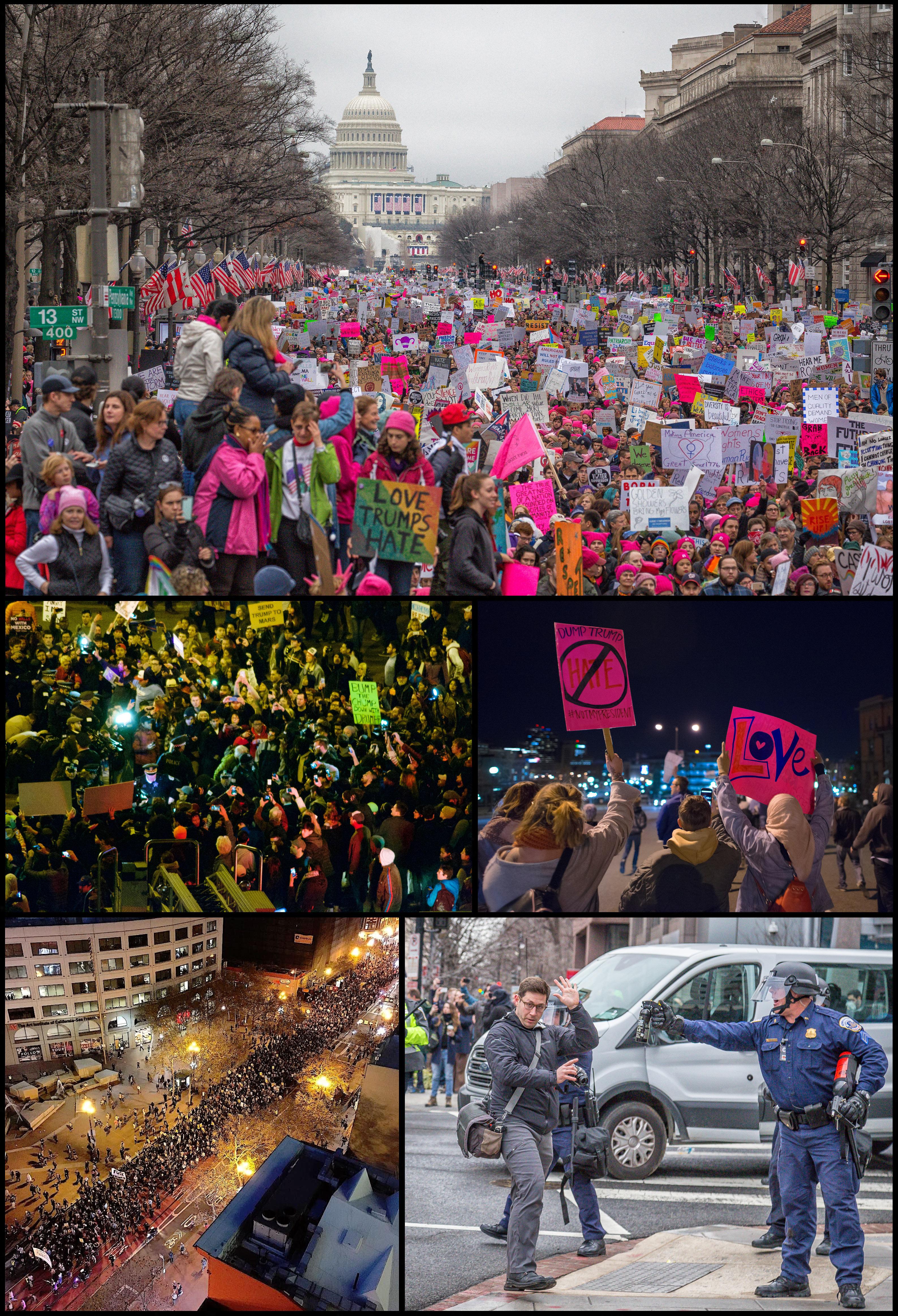 Proteste auf den Straßen der Städte