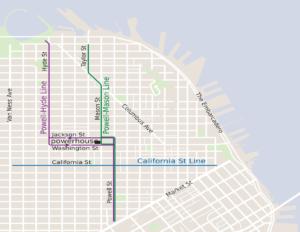 Liniennetz der San Francisco cable car