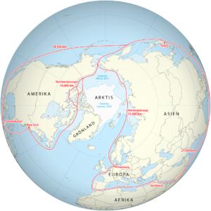 Seewege Nordwest- und Nordostpassage